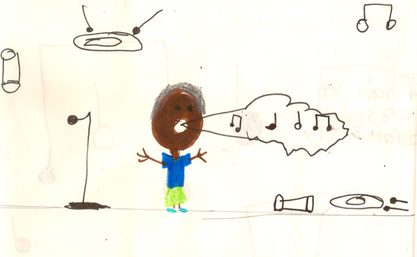 Art by a young audience member